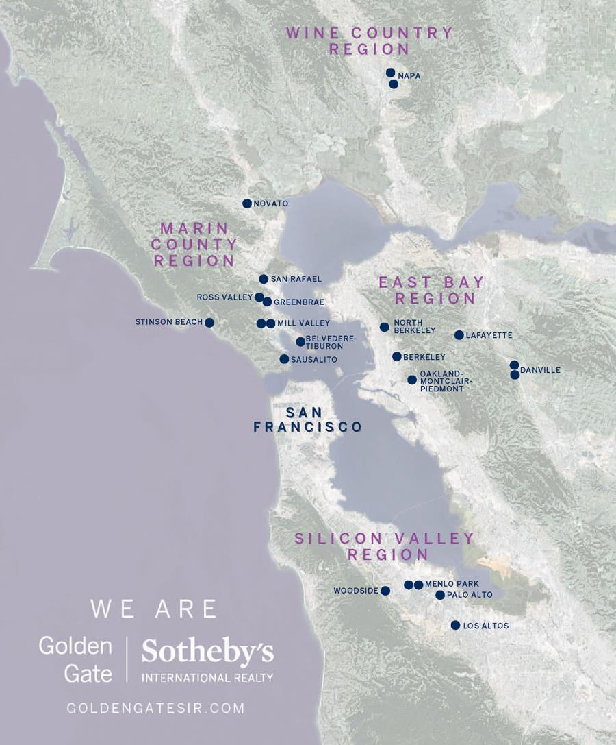 Golden Gate Sotheby's International Realty Bay Area Map